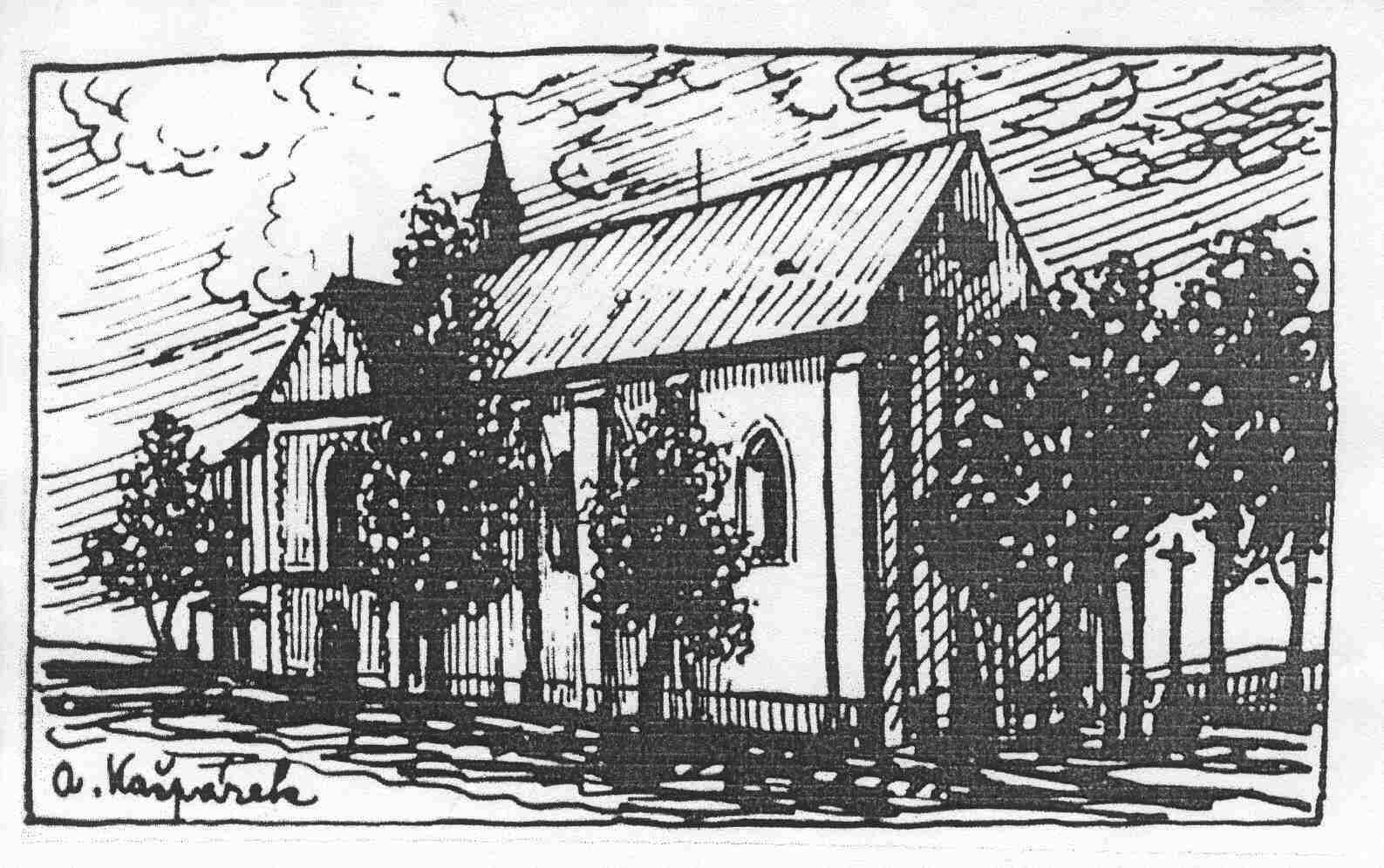 Kostel - kresba 1