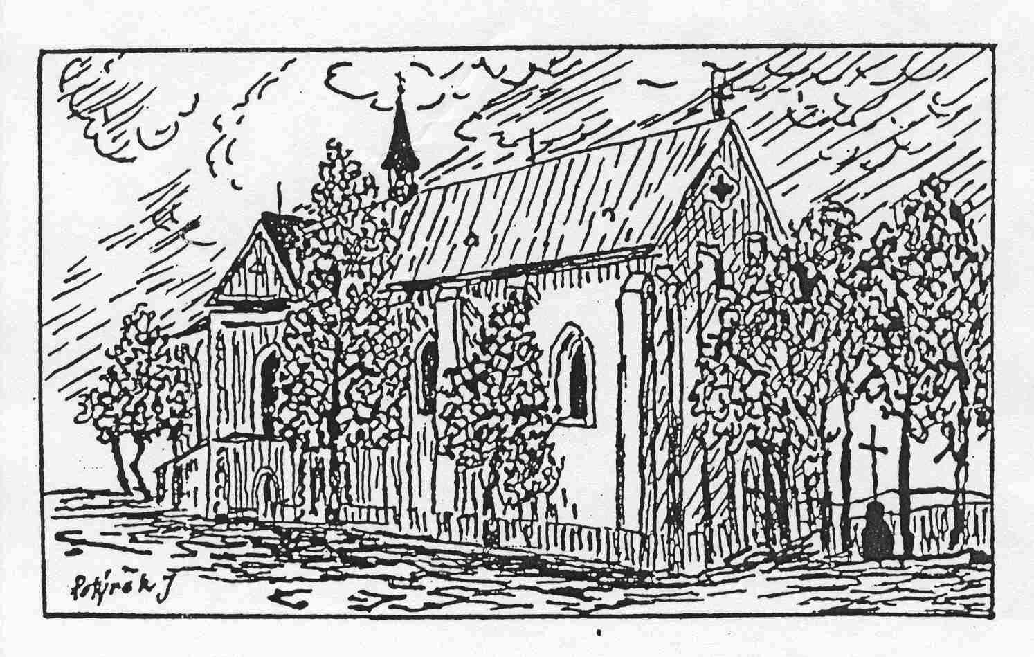 Kostel - kresba 2